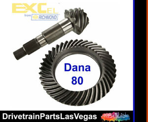 Dana 80 10 Bolt Cover 4 10 Ratio Std Cut Gear Set Ring Pinion Richmond Excel
