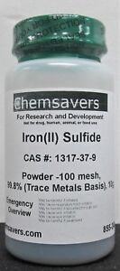 Iron ii Sulfide Powder 100 Mesh 99 8 trace Metals Basis 10g