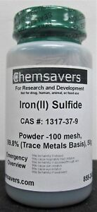 Iron ii Sulfide Powder 100 Mesh 99 8 trace Metals Basis 50g