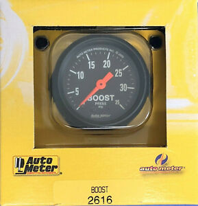 Auto Meter 2616 Z Series Mechanical Boost Gauge 0 35 Psi 2 1 16