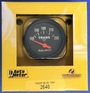 Auto Meter 2640 Z series Electric Transmission Temperature Gauge 100 250 2 1 16