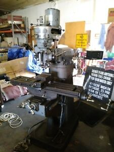 Webb Mill Milling Machine 9 X 42 Model 2s Bridgeport Knee Mill Vise