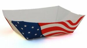 Southern Champion Tray 0533 100 Paperboard Usa Flag Food Tray 1 lb Capacity ca