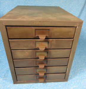 Vintage Kennedy 6 Drawer Metal Parts Storage Cabinet 90 Compartments