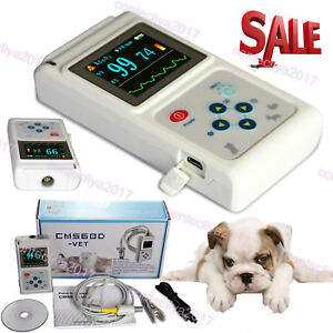 Veterinary Pulse Oximeter Spo2 Heart Rate Monitor Vet Ear tongue Probe Software