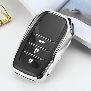Finer Electro Optic Silver Car Smart Key Holder Protector For Toyota Accessories