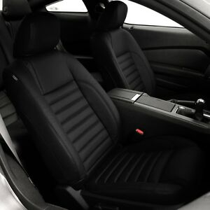 Katzkin Black Leather Seat Cover Covers 2013 2014 Ford Mustang Coupe Brand New