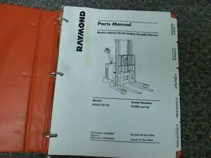 Raymond Rss22 Rss30 Rss40 Walkie Stacker Forklift Parts Catalog Manual 1000 up