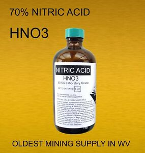 Nitric Acid 70 Lab Grade Gold Recovery 1 3 More Gold Processing Power Per Oz