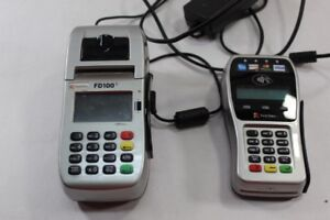 First Data Fd100ti Credit Card Machine Terminal Fd 35 Chip Reader Pin Pad
