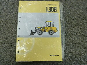Volvo Model L30b Compact Wheel Loader Owner Operator Maintenance Manual Book