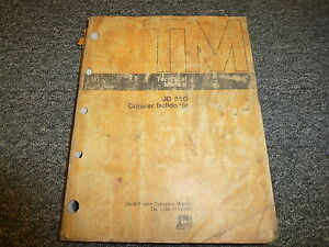 John Deere 550 Crawler Bulldozer Dozer Shop Service Repair Manual Tm1108