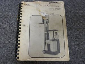Crown 35rctt Electric Stand Up Forklift Parts Catalog Service Repair Manual