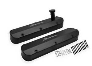 Ford Small Block 62 85 260 351w Sniper Black Valve Cover Set Holley 890013b