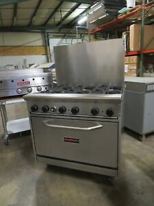 Tri star Tsr 6 36 Commercial Gas Range 6 Burners Great Shape