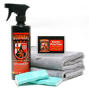 Auto Detailing Clay Bar Fine Grade Combo Kit Wolfgang Car Care Wg 9000f kit