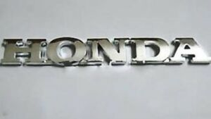 New Honda Chrome Script Emblm Rear Trunk Badge Letters 3d Strong Self Adhesive