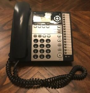 At t 1040 Small Business System Black Corded Desk Phone 4 Lines Intercom