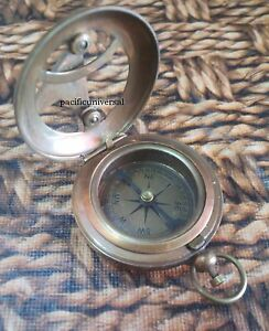Nautical Working Directional Push Button Compass Antique Pocket Compass Gift