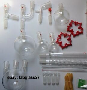 Chemistry Lab Glassware Kit 35 Units 24 40 Lab Stand Clamp hot Plate 110v