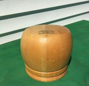 Excellent Wooden Hat Mold Form John Leone Display Head Style Block Millinery