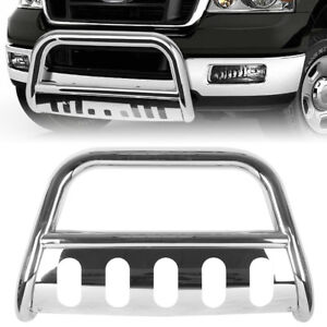 Bull Bar Bumper Grille Guard For Ford F 150 2004 2017 16 Chrome Stainless Steel