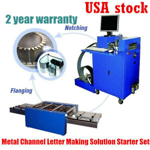 Metal Channel Letter Making Solution Starter Sets 1 Notcher 1 Flanger usa