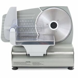 7 5 Electric Meat Slicer Deli Food Slicer Compact Stainless Steel Kitchen Tool