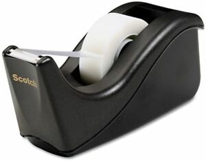 Scotch Value Desktop Tape Dispenser 1 Core Two tone Black Office D cor New