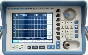 Rohde And Schwarz Fs300 9 Khz To 3 Ghz Spectrum Analyzer Calibrated
