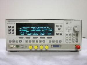 Hp Agilent 83640a 10 Mhz To 40 Ghz Synthesized Sweeper W Opt 001 Calibrated