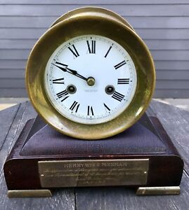 Antique Waterbury Clock Gifted To Henry Winn Pinkham In 1915