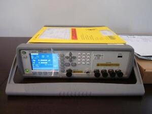 Agilent Hp E4981a 120 Hz 1 Khz 1 Mhz Capacitance Meter With Options 001 1a7
