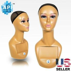 18 Female Life Size Mannequin Head For Wigs Hats Sunglasses Jewelry Display