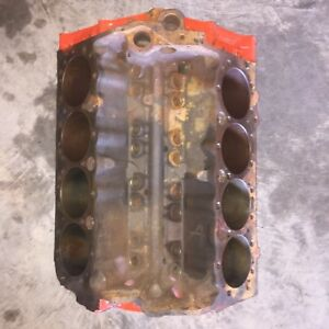 1966 Chevrolet 327 Sbc Engine Block 3858180 D 5 6 Standard
