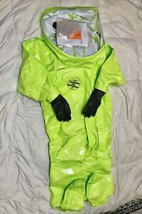 Dupont Tk612tlymd000100 Class 2 Encapsulated Hazmat Cbrn Suit Lime Yellow new