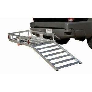500 Lb Capacity Aluminum Mobility Wheelchair And Scooter Carrier 2 Hitch Truck