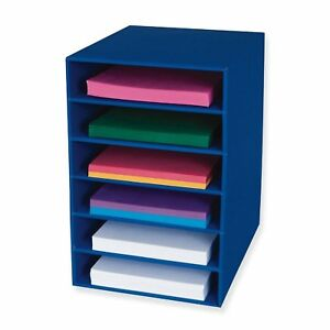 6 shelf Drawer Organizer Office Classroom Supplies Files Storage Shelves Bin