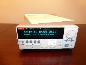 Keithley 2601 Single Channel System Sourcemeter 3a Dc 10a Pulse Calibrated