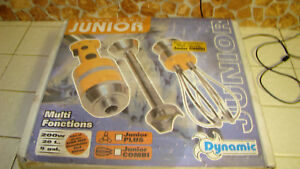 Dynamic Junior Combi Stick Mixer Hand Mixer Whisk Made In France New Open Box