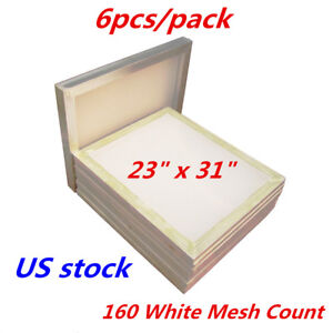 Us Stock 6pack 23 X 31 Aluminum Frame Silk Screen Printing Screens 160 Mesh