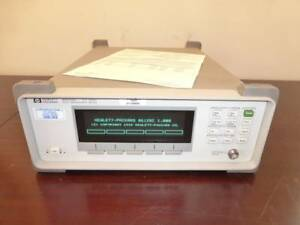 Agilent Hp 86120c 1270 To 1650 Nm Multi wavelength Meter W Fresh Calibration