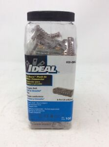 Lot Of 100 Ideal 30 090j In sure Push in 8 port Wire Connector