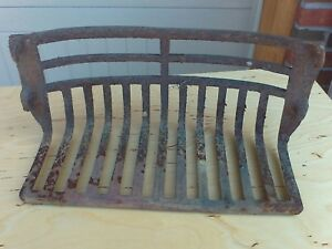 Antique Fireplace Cast Iron Grate 4 Hooks 17 3 4 Apart Od 16 3 4 Id 1800 S