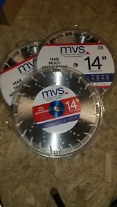 14 Multi Application Diamond Saw Blades 3pk For Concrete Masonry