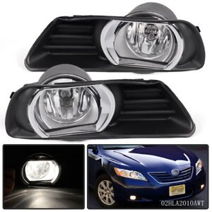 For 07 08 09 Toyota Camry Clear Bumper Driving Fog Lights Switch Left Right