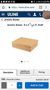 Uline Kraft Large Jewelry Boxes 8x5 5x2 Pack Of 27