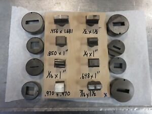 Di acro Turret Punch Die Rectangle Lot Diacro 1 Shaft Die Punch And Die