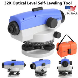 Automatic Optical Level 32x Transit Survey Mag Dampen Autolevel Measuring Tools