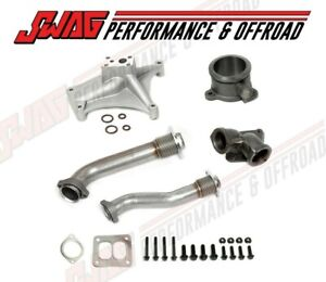 94 97 Ford 7 3 Powerstroke Ebv Delete Pedestal Exhaust Housing Up Pipe Kit